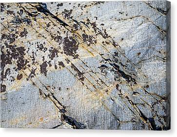 Canvas Print featuring the photograph Glacier-polished Metamorphic Rock by Alexander Kunz
