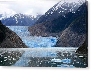 Canvas Print featuring the photograph Glacier by Shirin Shahram Badie