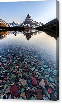 Canvas Print featuring the photograph Glacier Skittles by Aaron Aldrich