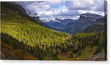 Glacier Storm Canvas Print by Chad Dutson