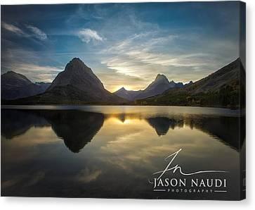 Glacier Sunset Canvas Print by Jason Naudi