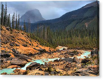 Canvas Print featuring the photograph Glacier Waters Flowing Through Yoho National Park by Adam Jewell