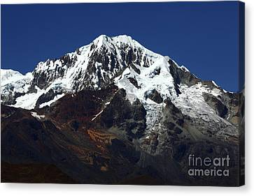 Overhang Canvas Print - Glaciers Of Mt Illampu Bolivia by James Brunker