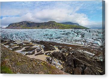 Glacier,vatnajokull National Park, Iceland Canvas Print by Venetia Featherstone-Witty