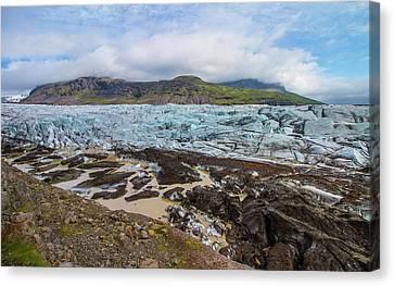 Glacier, Vatnajokull National Park, Iceland Canvas Print