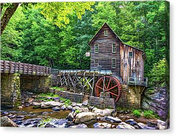 Glade Creek Grist Mill 2 - Paint Canvas Print