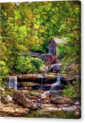 Glade Creek Grist Mill 3 - Overlay Canvas Print