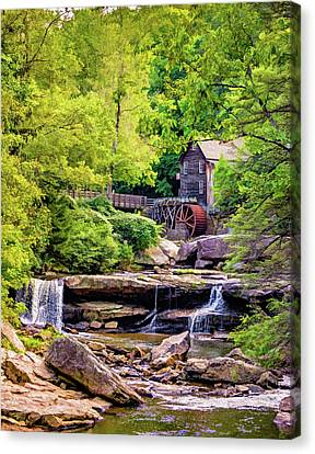 Old Mills Canvas Print - Glade Creek Grist Mill 3 - Paint by Steve Harrington
