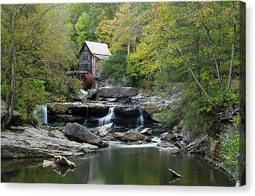 Canvas Print featuring the photograph Glade Creek Grist Mill by Ann Bridges