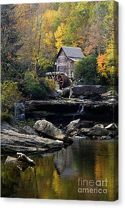 Canvas Print featuring the photograph Glade Creek Grist Mill - D009975 by Daniel Dempster