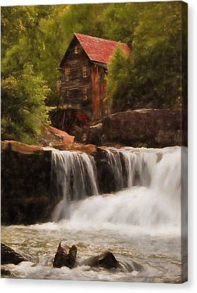 Glade Creek Grist Mill Canvas Print by Dan Sproul