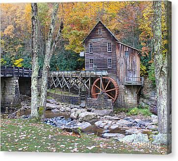 Glade Creek Grist Mill Canvas Print by Jack Schultz