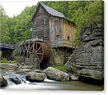 Grist Mill Canvas Print - Glade Creek Grist Mill Located In Babcock State Park West Virginia by Brendan Reals