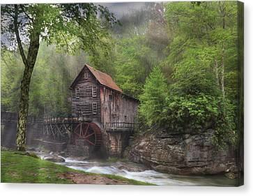 Grist Mill Canvas Print - Glade Creek Grist Mill by Lori Deiter