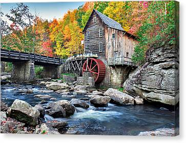 Glade Creek Grist Mill Canvas Print by Mary Almond