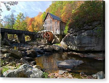 Canvas Print featuring the photograph Glade Creek Grist Mill by Steve Stuller