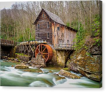 Canvas Print featuring the photograph Glade Creek Grist Mill by Steve Zimic
