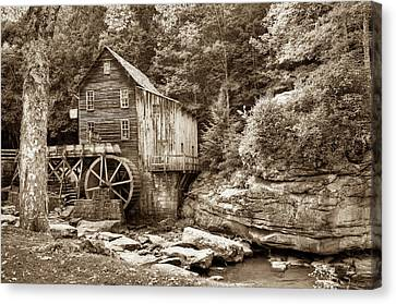 Old Mills Canvas Print - Glade Creek Grist Mill - West Virginia - Sepia Edition  by Gregory Ballos