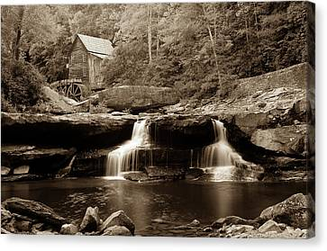 Glade Creek Grist Mill - West Virginia - Sepia Canvas Print by Gregory Ballos