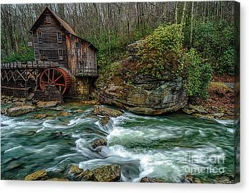 Glade Creek Gristmill In February Canvas Print