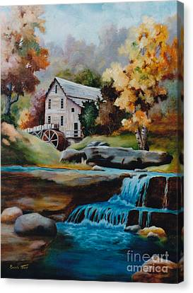 Glade Creek Mill Canvas Print by Brenda Thour