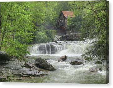 Grist Mill Canvas Print - Glade Creek Waterfalls by Lori Deiter