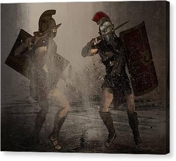 Gladiators Canvas Print by Jean Gugliuzza