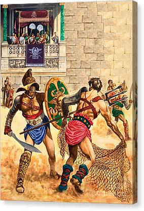 Gladiators Canvas Print by Peter Jackson