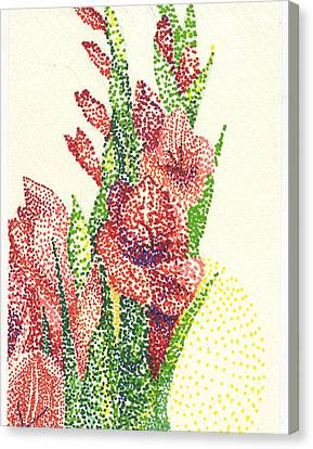 Gladiolas Canvas Print - Gladiolas by Leslie Genser