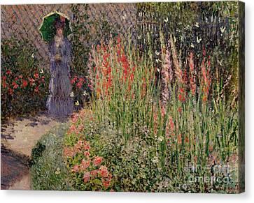 Gladioli Canvas Print by Claude Monet