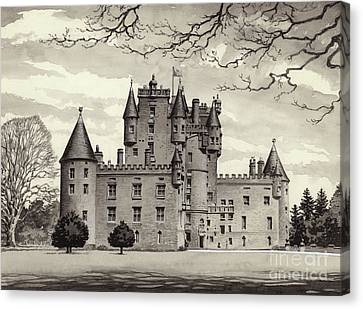 Glamis Castle Canvas Print by Pat Nicolle