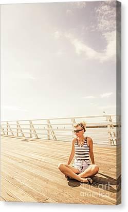 Seafarer Canvas Print - Glamorous Summer Woman by Jorgo Photography - Wall Art Gallery