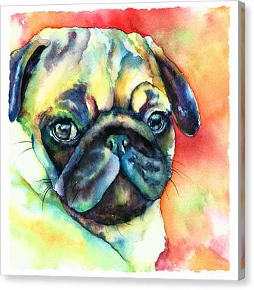 Glamour Pug Canvas Print by Christy  Freeman