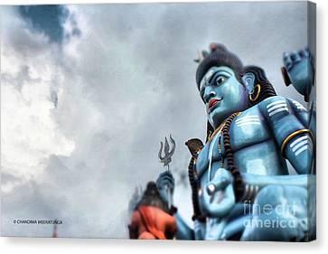Glancing God Canvas Print by Chandima Weeratunga