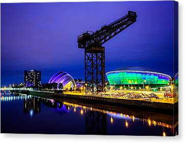 Glasgow At Night Canvas Print