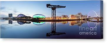 Glasgow Skyline Panorama Canvas Print by John Farnan