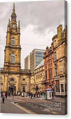 Tron Canvas Print - Glasgow Street Scene by Antony McAulay
