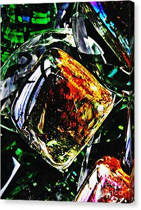 Glass Abstract 160 Canvas Print by Sarah Loft