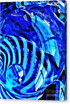 Glass Abstract 211 Canvas Print by Sarah Loft