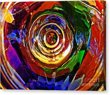 Psychadelic Canvas Print - Glass Abstract 548 by Sarah Loft