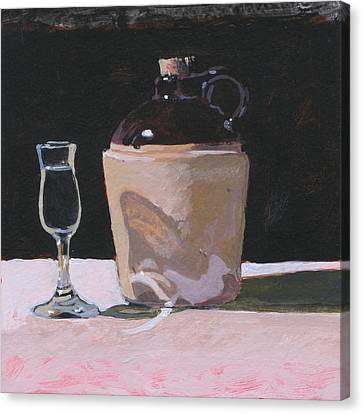 Glass And Jug Canvas Print by Robert Bissett