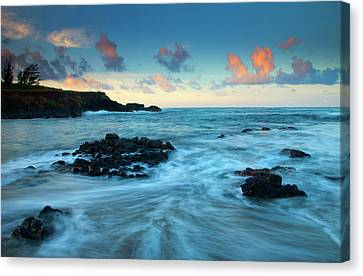 Seascapes Canvas Print - Glass Beach Dawn by Mike  Dawson