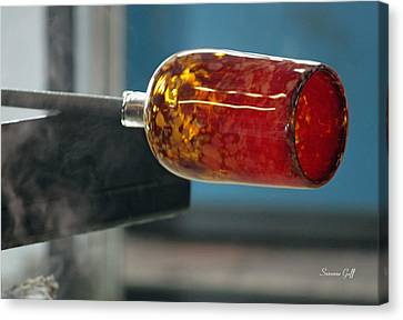 Glass Blowing Vii Canvas Print by Suzanne Gaff