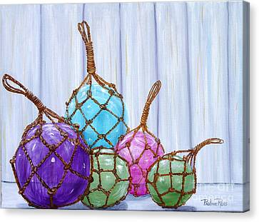 Glass Bouys Canvas Print by Pauline Ross