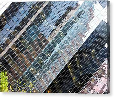 Glass Buildings 4 Canvas Print by Robert Knight
