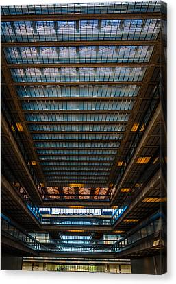 Glass Ceiling Canvas Print by Kristopher Schoenleber