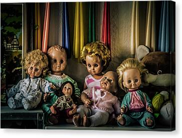 Canvas Print featuring the photograph Glassy Eyed Menagerie by Odd Jeppesen