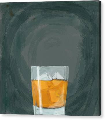 Glass, Ice,  Canvas Print by Keshava Shukla