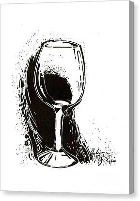 Decanters Canvas Print - Glass by Julianna Ziegler