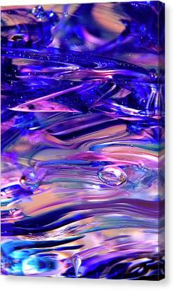 Glass Macro Xvi Canvas Print by David Patterson